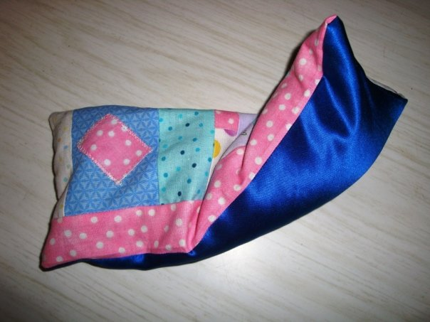 this is my finished patchwork eyepillow project for my boyfriend
