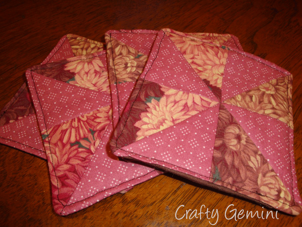 Quilted Drink Coasters Tutorial - Crafty Gemini
