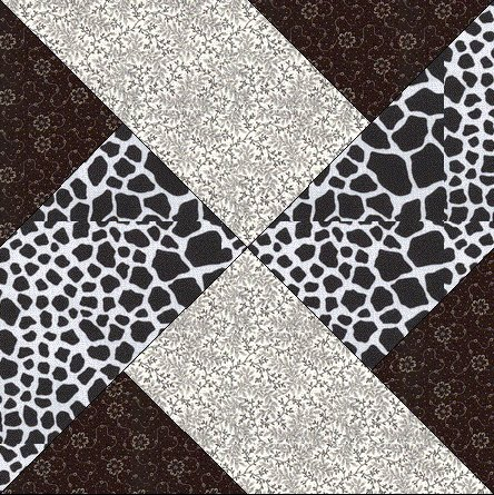 black u0026 white quilt along block 3