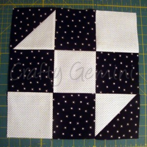 black u0026 white quilt along block 2