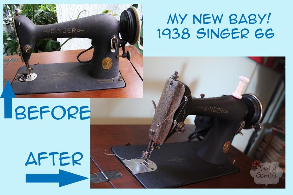 My Vintage Singer 40 Is BACK Crafty Gemini Cool Singer Sewing Machine Model 66 18