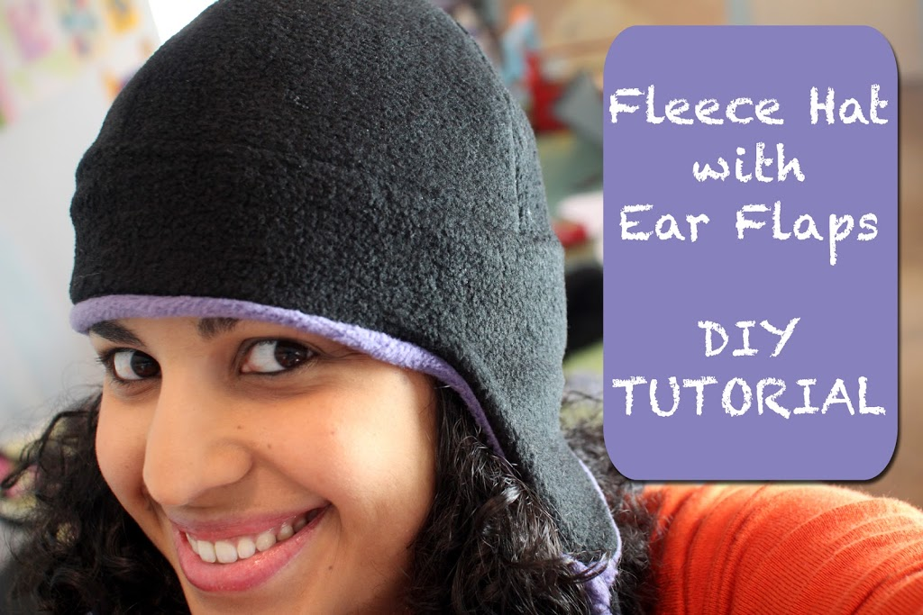 Fleece Hat with ear flaps- DIY TUTORIAL - Crafty Gemini