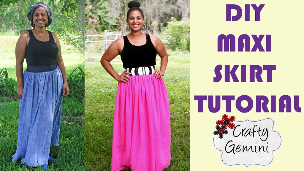 Maxi Skirt Diy Video Tutorial Crafty Gemini