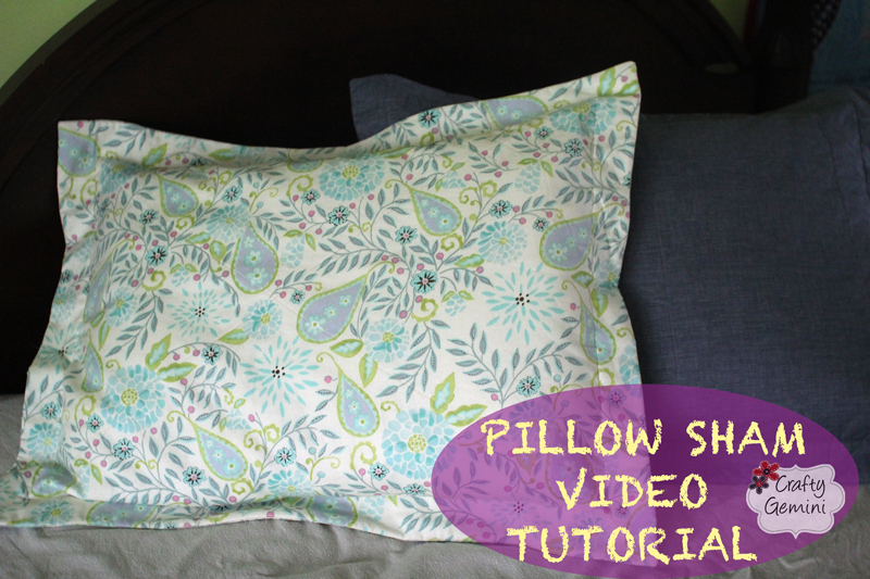 how to make a pillow sham giveaway crafty gemini. Black Bedroom Furniture Sets. Home Design Ideas