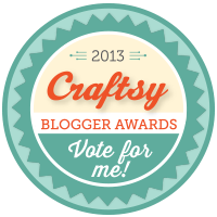 Vote for me for Craftsy's blogger awards!