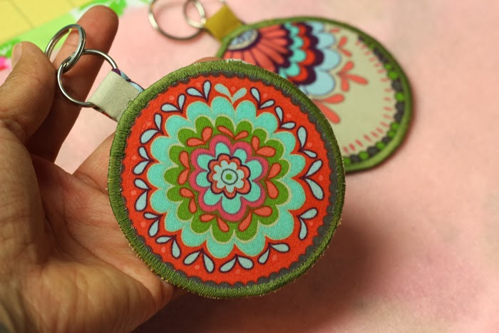 how to make fabric keychains