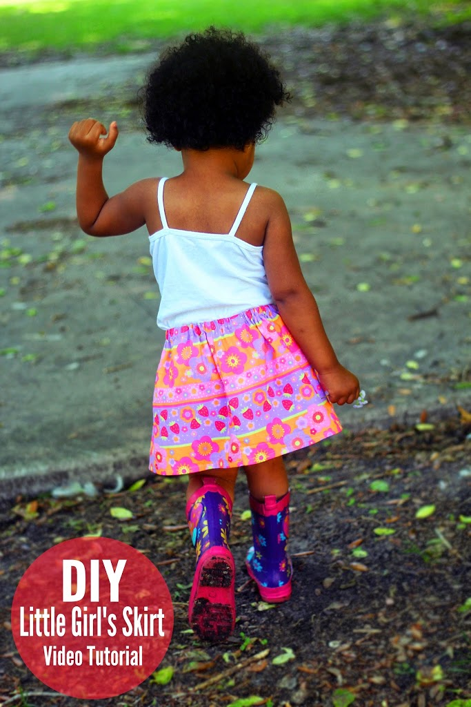 Easy Skirt For Little Girls Diy Video Tutorial Crafty