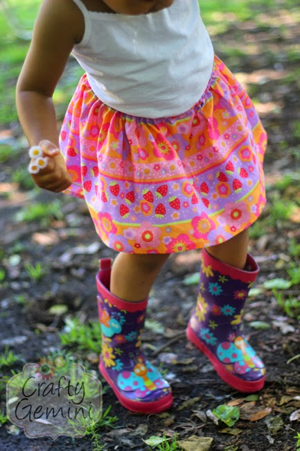 easy skirt for little girls tutorial
