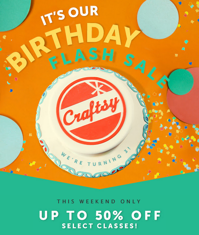 craftsy weekend birthday sale