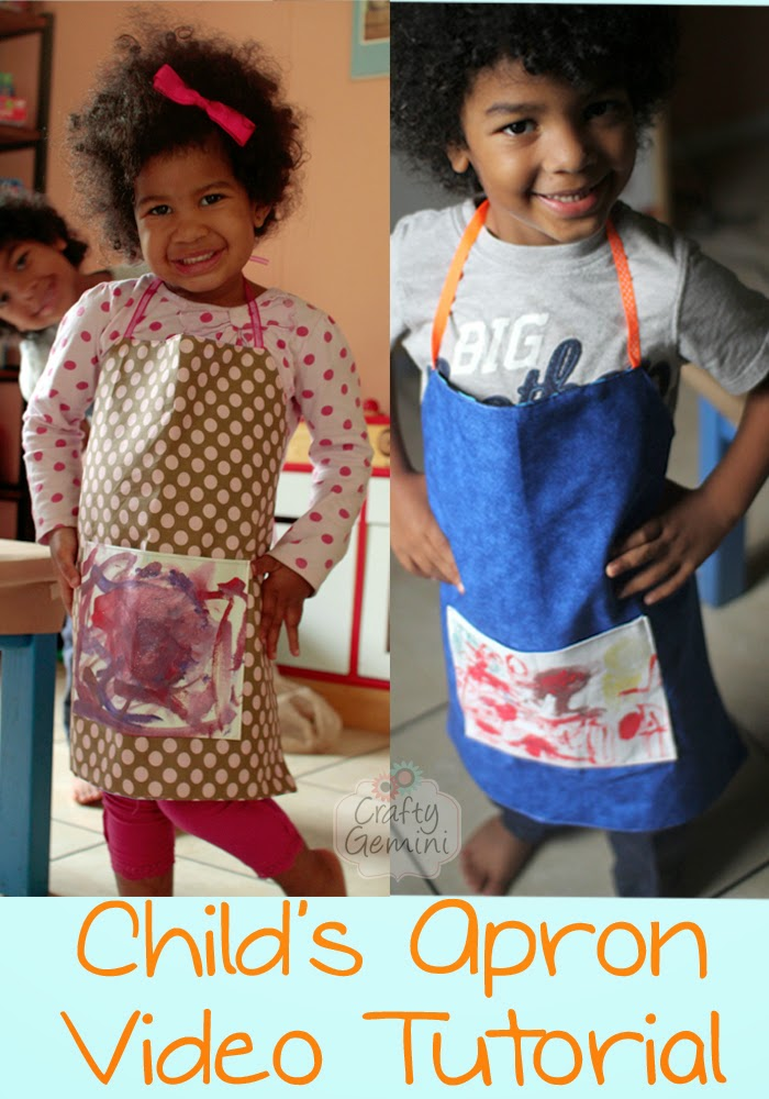 how to make a child's apron sewing