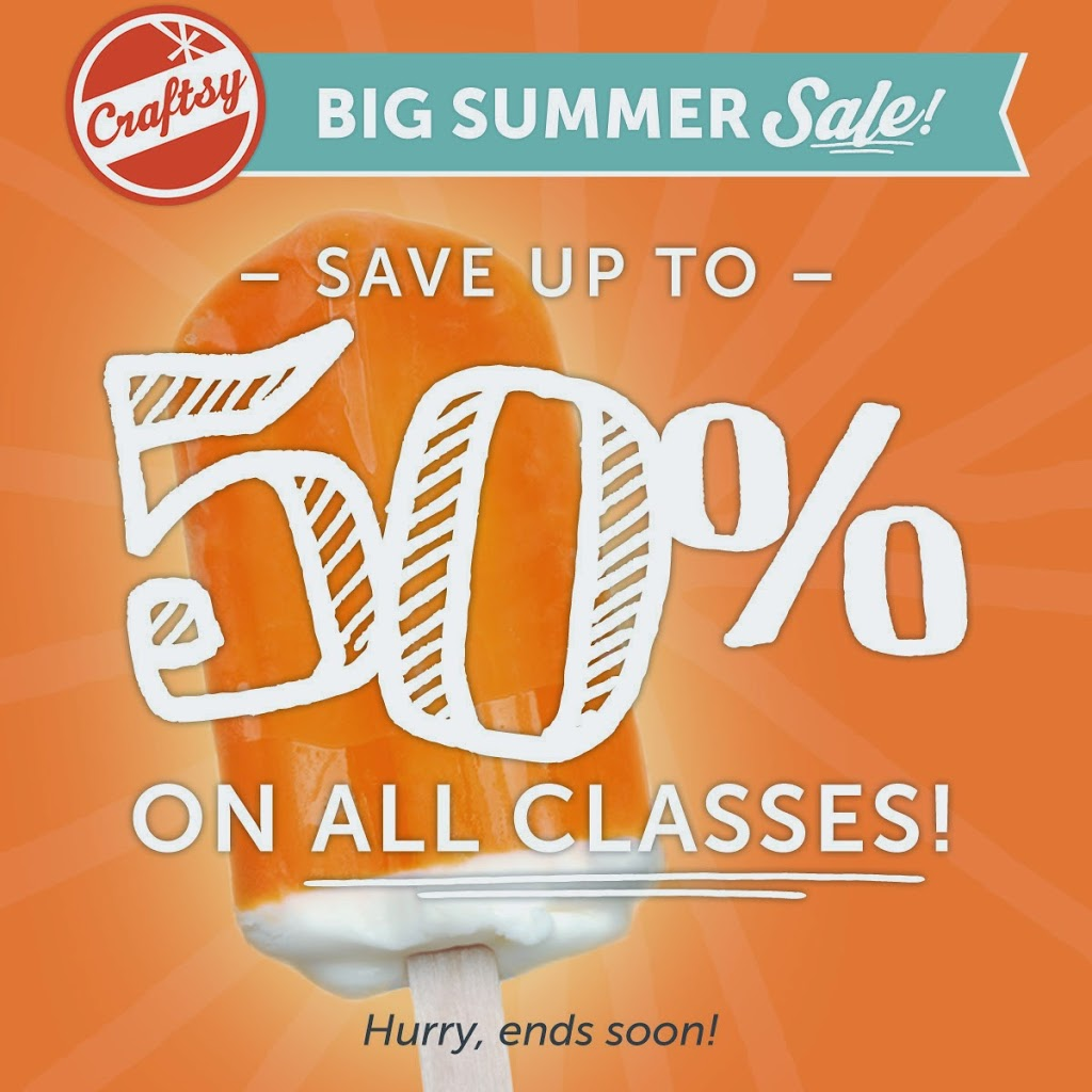 craftsy summer sale 50% off