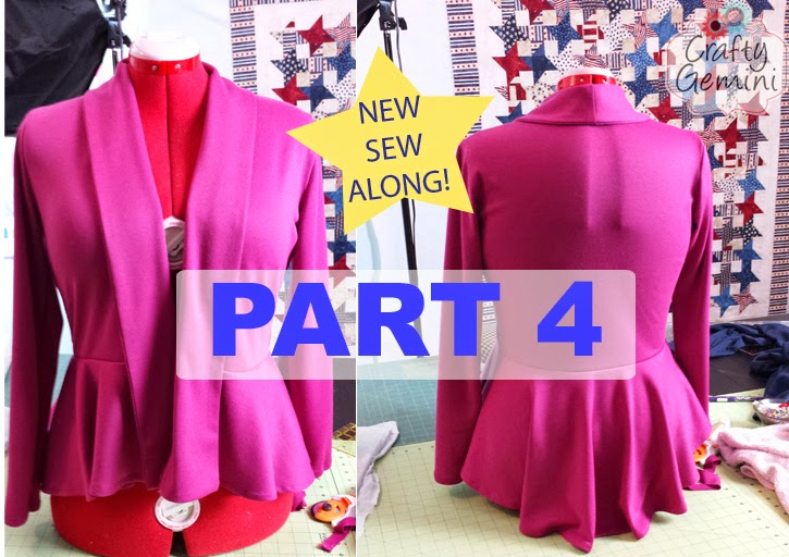 video sew along peplum cardigan part 4