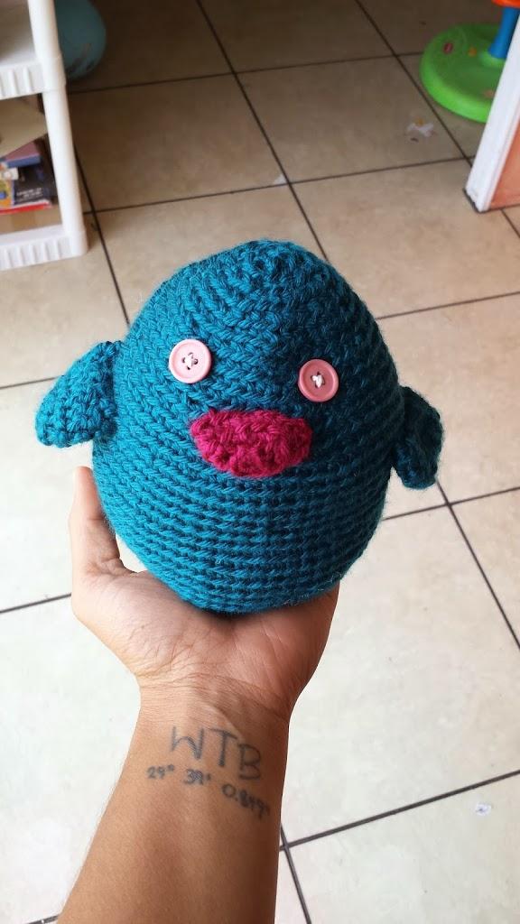 crochet amigurumi bird toy