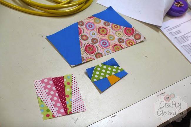 paper pieced mushroom quilt block