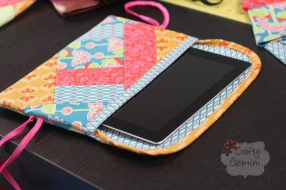 QAYG quilt as you go tablet cover