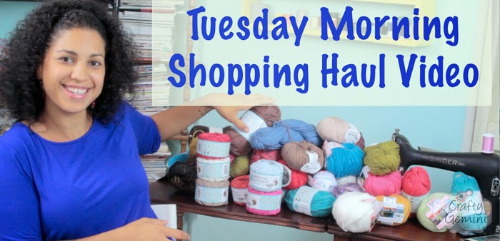 tuesday morning shopping haul video yarn