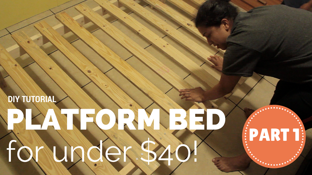 How To Build A Platform Bed For 40 Diy Video Tutorial