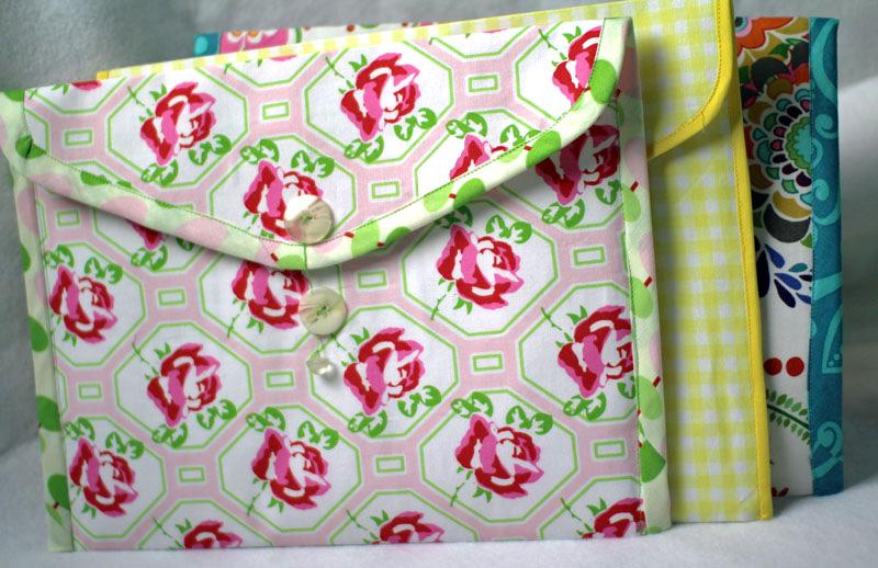 fabric envelope folders by crafty gemini