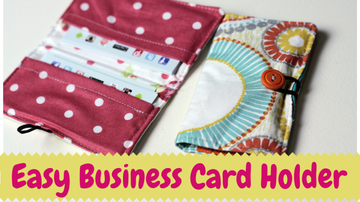 business card holder diy video tutorial