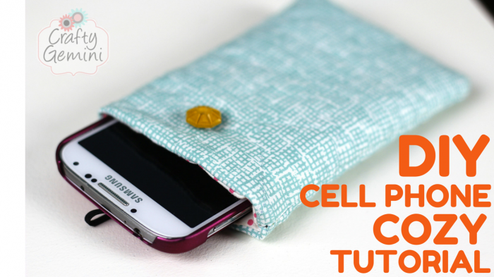 quilted cell phone cozy video tutorial