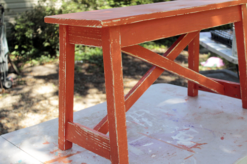 rustic x bench ana white sherwin williams paint distress