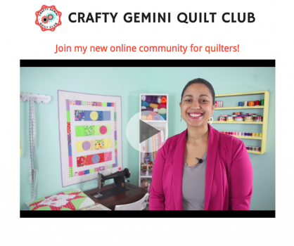crafty gemini quilt club pre-sale