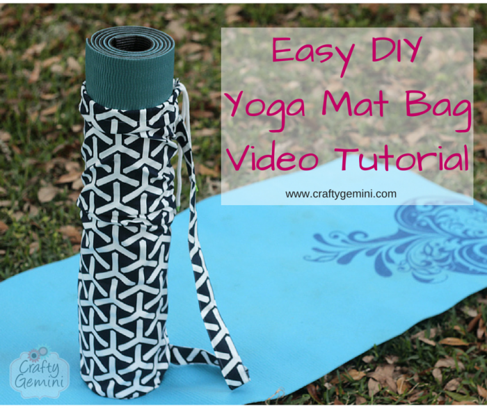 yoga mat bag sewing video tutorial