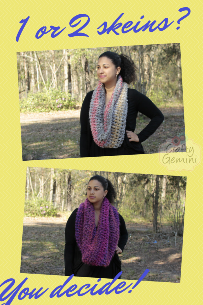 flattering cowl crochet video tutorial by crafty gemini for Lion Brand Yarns