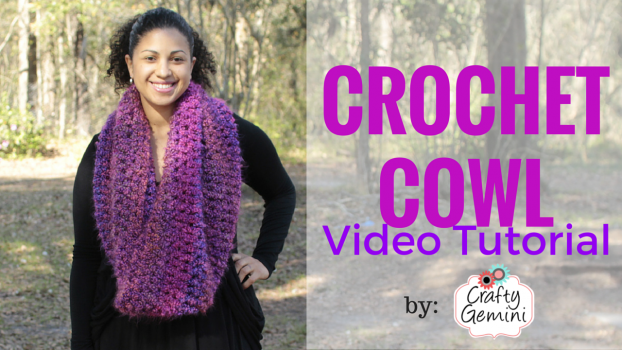flattering crochet cowl by crafty gemini video tutorial