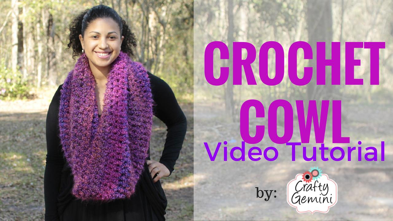 flattering crochet cowl by crafty gemini video tutorial