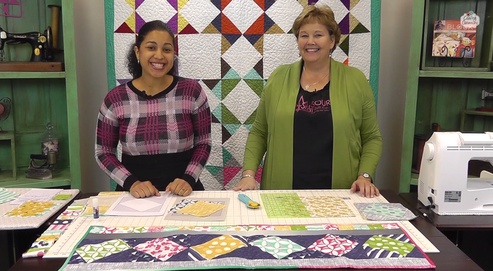Twist 10 Table Runner Tutorial with Jenny Doan of Missouri Star ... : missouri quilting - Adamdwight.com
