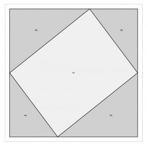 twist 10 table runner paper piecing template