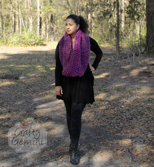 flattering cowl crochet tutorial