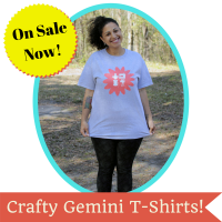 crafty gemini t-shirt sale
