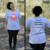 Crafty Gemini T-shirt Front/Back