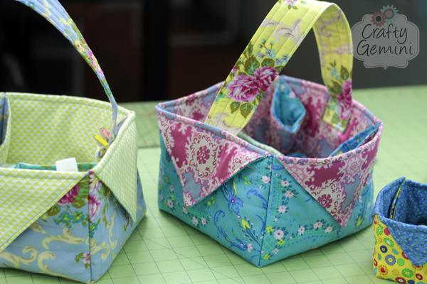 DIY Fabric Easter Basket- Video Tutorial - Crafty Gemini : quilted basket pattern - Adamdwight.com