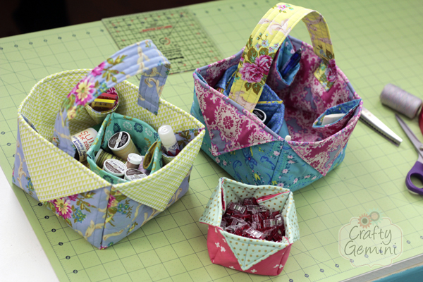 Sewing for home kitchen crafty gemini diy fabric easter basket video tutorial negle Gallery