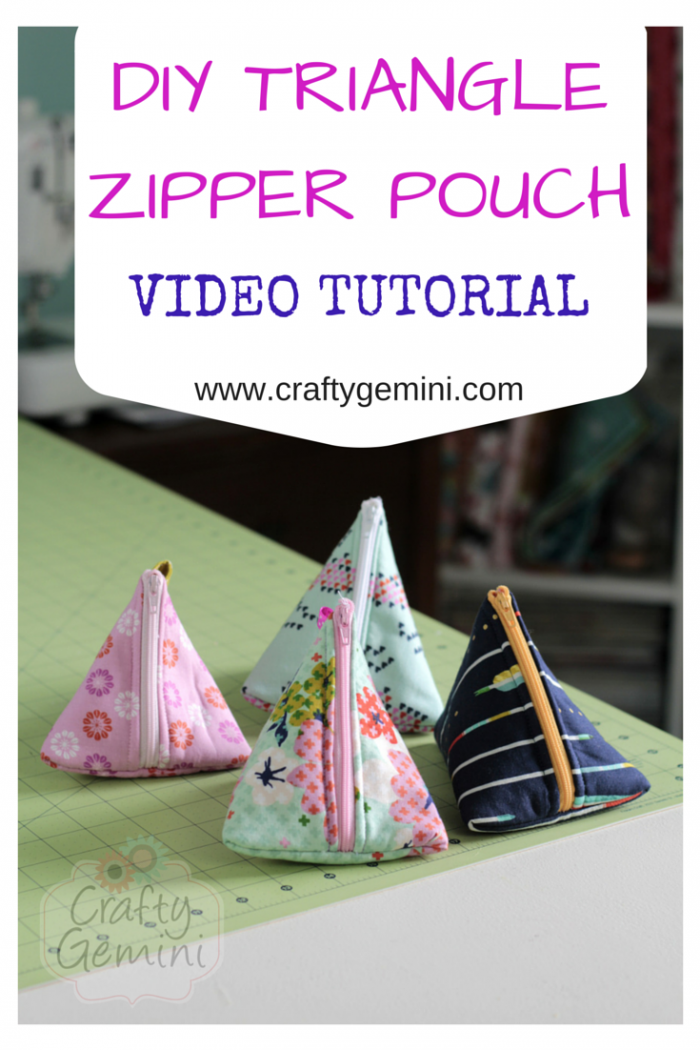 video tutorial triangle zipper pouch tetrahedron