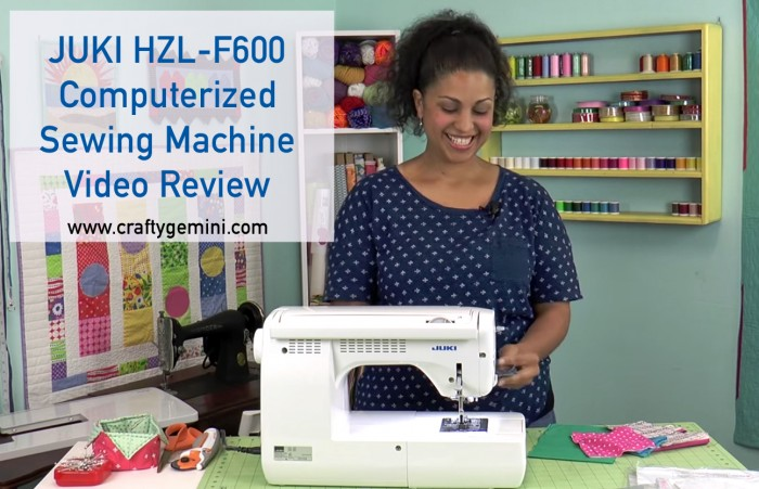 juki hzl f600 sewing machine video review