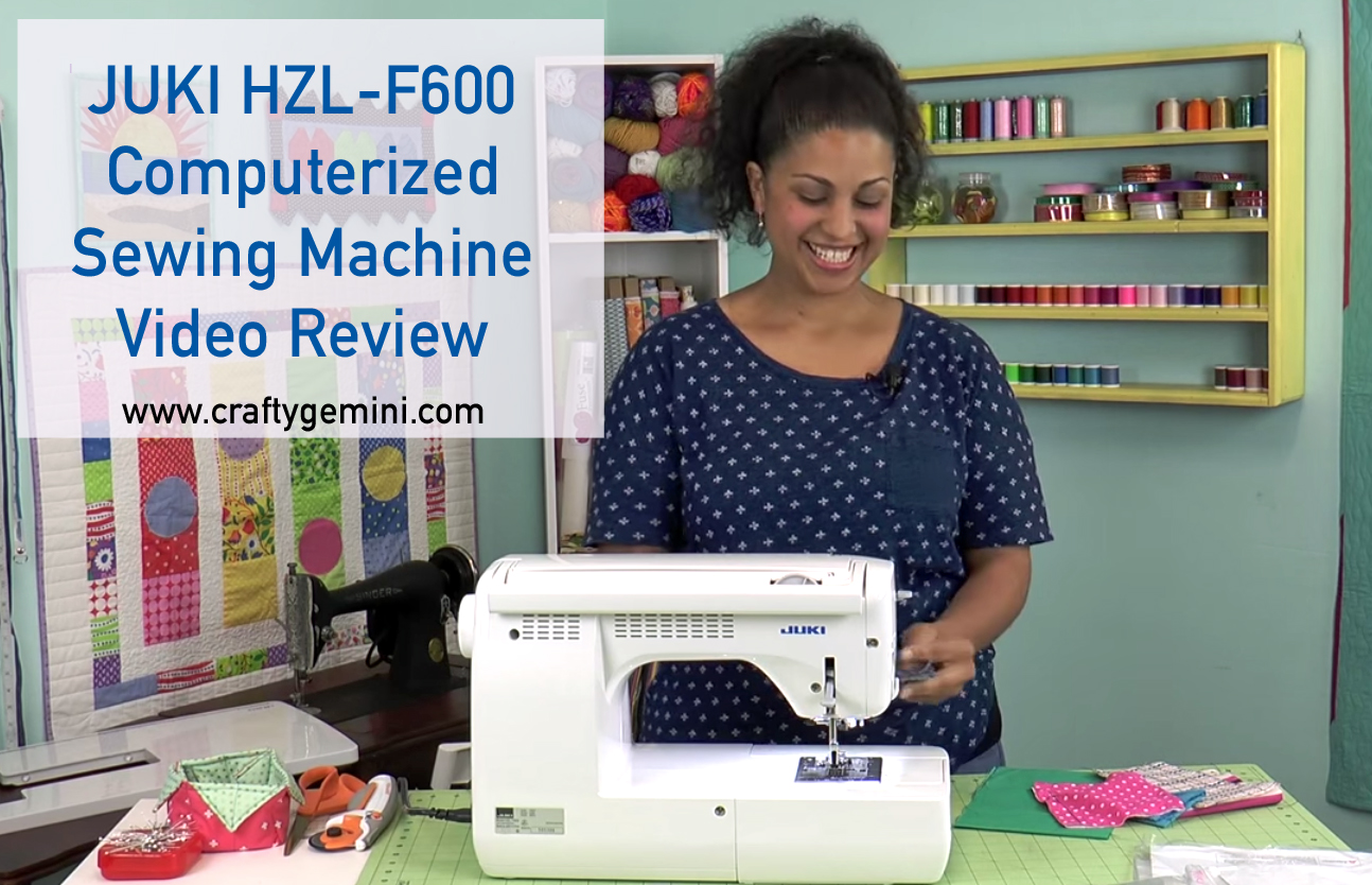 juki hzl f600 sewing machine video review