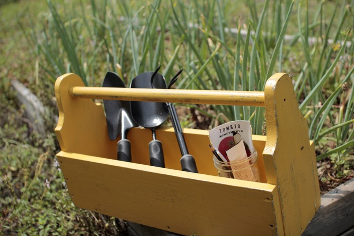 Garden Tool Caddy DIY woodworking project Crafty Gemini