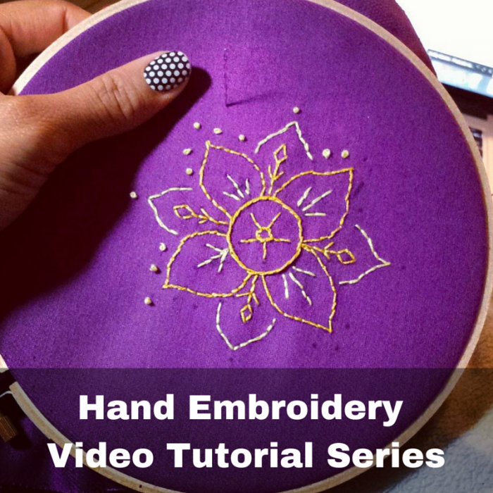 hand embroidery video tutorial series