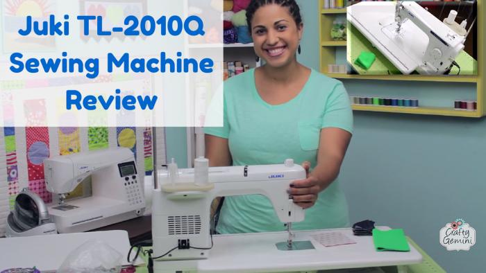 juki tl-2010q sewing machine video review by crafty gemini