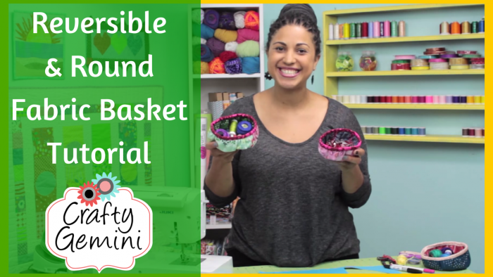 reversible round baskets crafty gemini