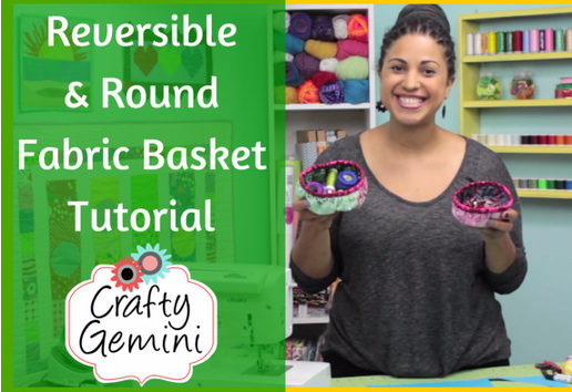 reversible round fabric basket tutorial