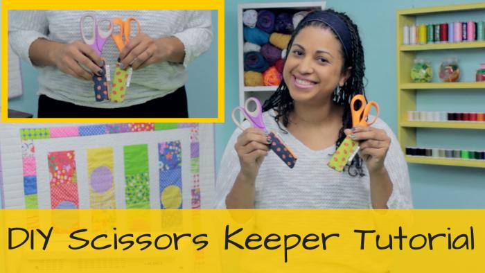 DIY scissors keeper case shield by crafty gemini