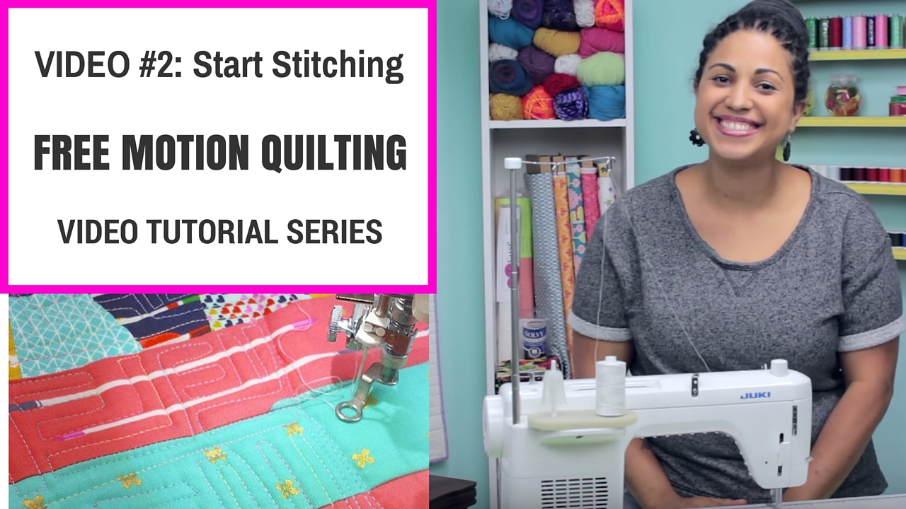 free motion quilting tutorial video series #2 straight stitches