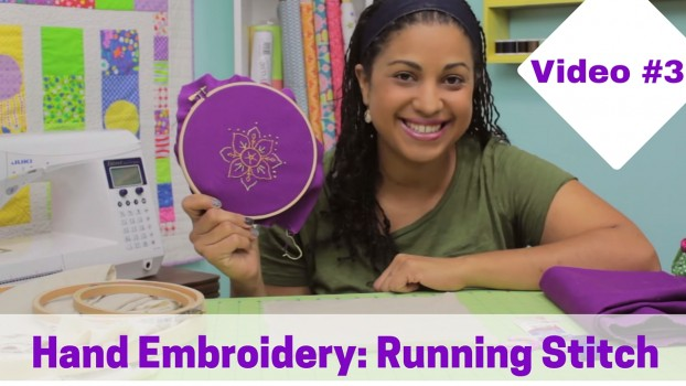 Hand Embroidery Tutorial for the running stitch