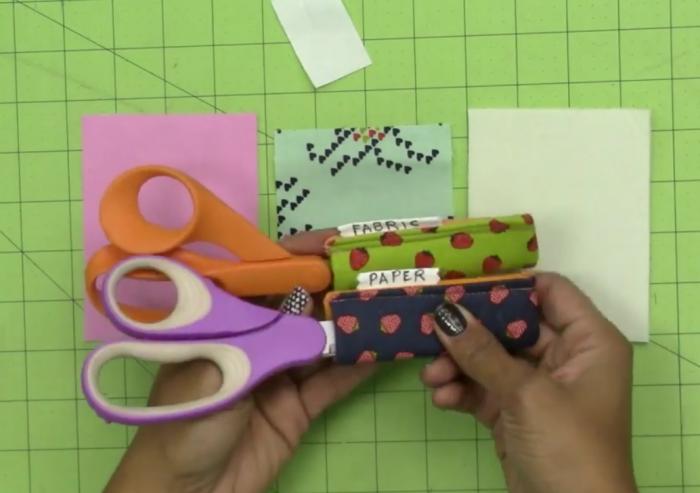 scissors keeper diy video tutorial by crafty gemini