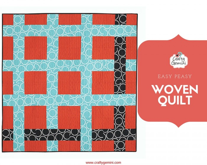 woven quilt design by crafty gemini